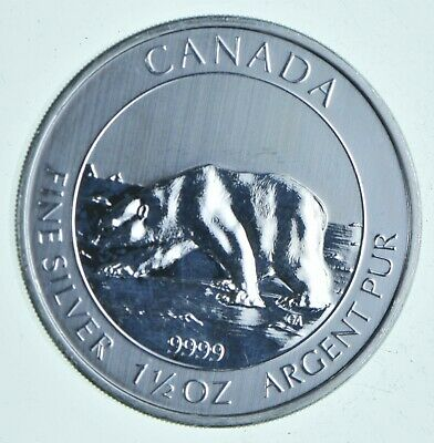 2013 1.5 oz Canada Silver Polar Bear $8 Coin .9999 Fine Brilliant UNC *005