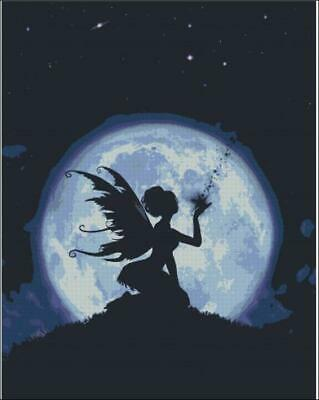 Moonlit Fairy Creating a Star cross stitch chart