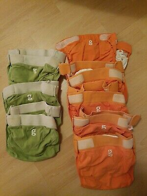 Lot of 8 G Diapers gDiapers & Plastic Liners ~ Size Large