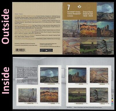 Canada Group of Seven 'P' booklet (7 stamps) MNH 2020