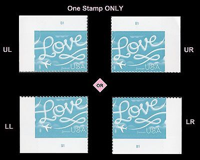 US 5155 Love Skywriting forever plate single (1 stamp) MNH 2017