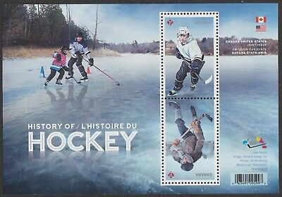 Canada 3039 History of Hockey souvenir sheet MNH 2017