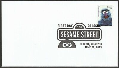 US 5394i Sesame Street Herry Monster BWP FDC 2019