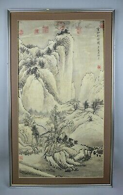 Antique Chinese Traditional Painting Tang Yin Ming Style 19th to 20th Century