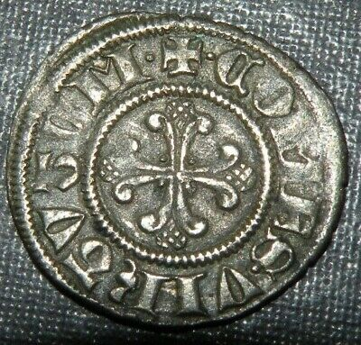 Medieval Large Silver Coin 1200's AD Crusader Templar Cross Lot Ancient Old Nice