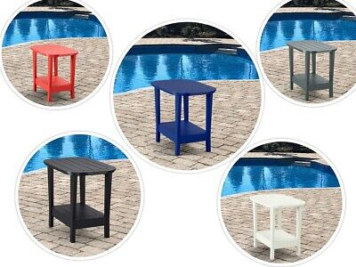 Side Table by Leisure Line Adirondack Outdoor Portable Plastic UV, color stable