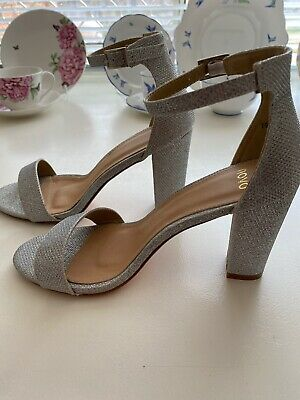 Novo silver high heel shoe size 8