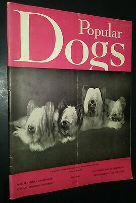 Popular Dogs Magazine Champion SkyeTerrier Cover by Evelyn Shafer May 1960