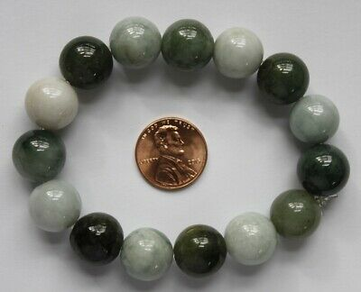 Gemstone 100% Natural Grade A Untreated Multi-Color Jadeite Jade Beads Bracelet