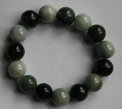 100& Natural JADE Grade A Beautiful Oily Green Light Green Jadeite Bracelet