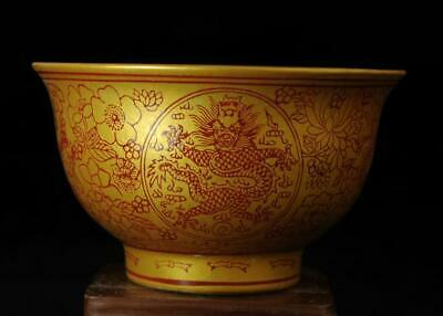 china old collection colored enamel porcelain royalty nine dragon bowl b01