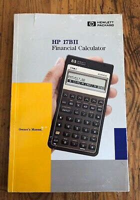Hewlett Packard HP 17BII Financial Calculator Owner's Manual - Book Only - Used