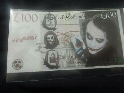 Novelty  £100 Joker Banknote (Bank of Gotham) Batmans Nemesis