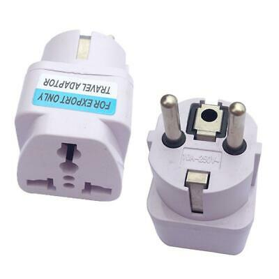 US UK AU To EU Europe Travel Charger Power Adapter Converter Wall Plug Home