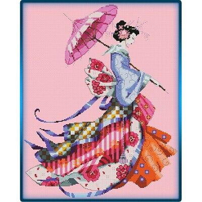 Miss Cherry Blossom cross stitch chart