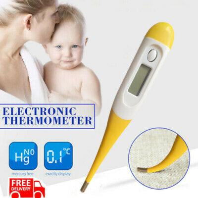 Thermometer for Adults and Kids Digital LCD Baby Thermometers Body for Mouth UK