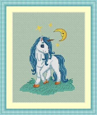 Little Unicorn Cross Stitch Chart a