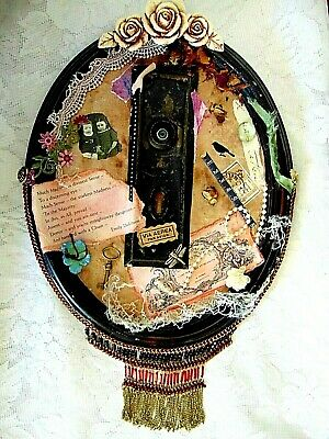 Eye - Altered Art Assemblage Piece Multi Media Vintage and Antique Found Objects
