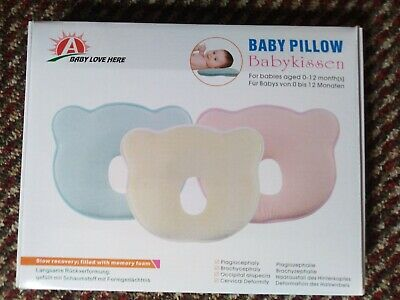 ❤Baby Cot Pillow Infant Newborn Anti Flat Head Cushion for Crib Bed Neck-Support