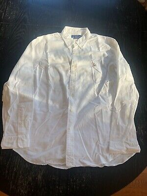 Polo Ralph Lauren Mens White Slim Fit Stretch Oxford, Size XL, NWOT, $100