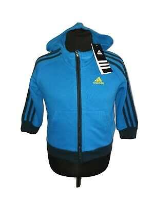 BNWT Boy ADIDAS Climalite Full Zip Hoodie Track Top Age 2-3 Years