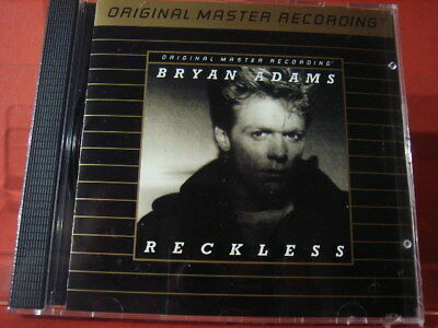 "UDCD 544 BRYAN ADAMS "" RECKLESS "" (MFSL-24karat-GOLD-CD/JAPAN/FACTORY SEALED)"
