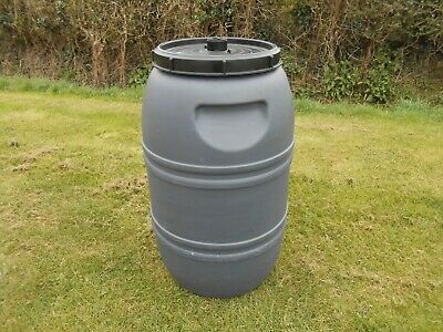 Plastic Barrel, Water Butt, with Lid, Feed Bins 210ltr COLLECTION ONLY