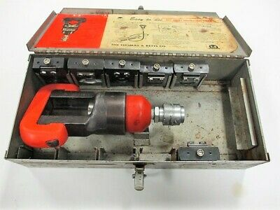 13642 Thomas & Betts T&B Hydraulic Crimp Tool Crimper Dies Insulated Terminals