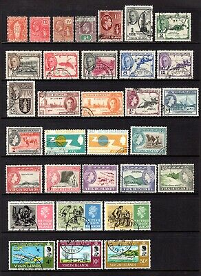 BRITISH VIRGIN ISLANDS QV TO QE11 1960's GOOD TO FINE USED SETS & ODDS CAT £66+