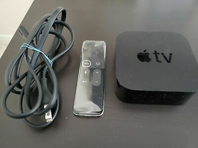 Apple TV 32GB 4K HD Media Streamer Black MQD22LL/A Perfect Condition Barely Used
