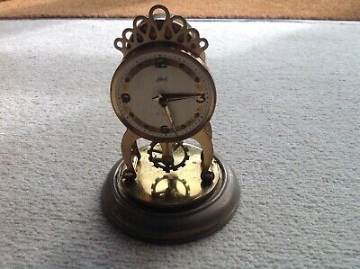 Vintage 8Day Dome Clock With Visible Escapement By Schatz & Sohne, Working Order