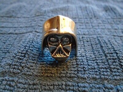 Darth Vader Silver Plated Ring Size 7