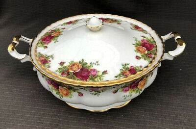 ROYAL ALBERT OLD COUNTRY ROSE LIDDED TUREEN First Quality Mint