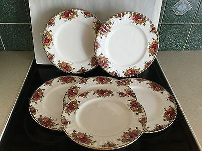 """ROYAL ALBERT OLD COUNTRY ROSE 10 1/4"""" DINNER PLATES Excellent"""