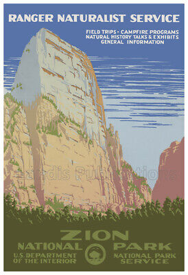 """1930s See America /""""Arches/"""" Classic Vintage WPA Travel Poster 20x28"""