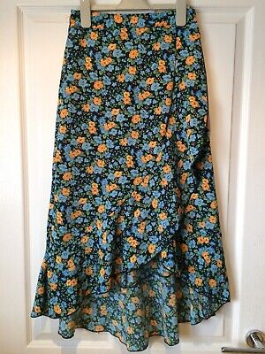Womens Floral Midi Skirt Size 8-10