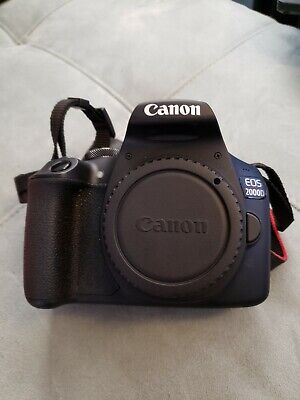 Canon EOS 2000D/T7 24.1 MP Digital SLR rarely used- Black with battery, charger