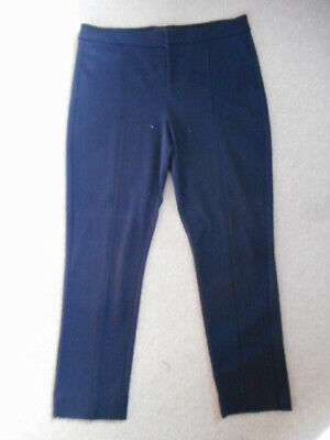 Womens Pants-NYDJ-NOT YOUR DAUGHTERS JEANS-navy rayon Ponte stretch slim leg-12