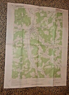 Franklinville New York Quadrangle Geological Survey Map 1963 Approx 21 X 27 Cris