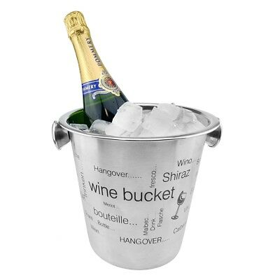 Stainless Steel Bottle Cooler Ice Bucket Beverage Sect Champagne New