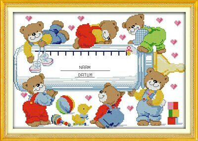 Baby Bottle Birth Sampler cross stitch chart a