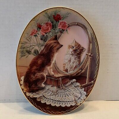"""Vintage """"The Fairest Of Them All"""" Cat Art Plate 1997 The Bradford Exchange"""