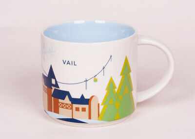 "Aspen Starbucks /""You Are Here/"" 2 Coffee Cups Mugs YAH Vail Set"