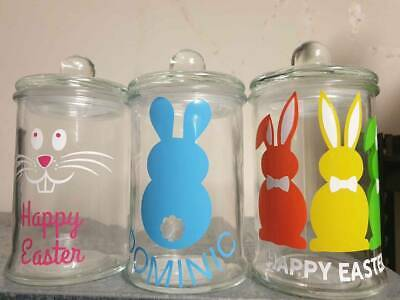 🐰 Glass Easter Jar with lid (350m or 700mL) 🐰
