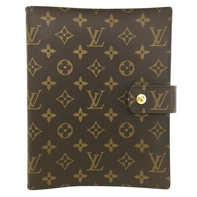 100% Authentic Louis Vuitton Monogram Agenda GM Notebook Cover /o510