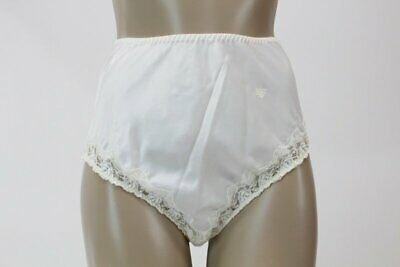 vintage Christian Dior Soft Satin Panties Lace panty briefs White sz 6 M