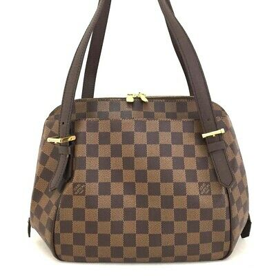 100% Authentic Louis Vuitton Damier Belem MM Shoulder Bag /ee207