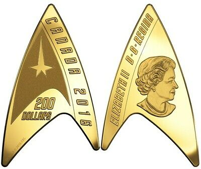 STAR TREK: 2016 CANADA DELTA SHAPE 1/2 oz GOLD COIN