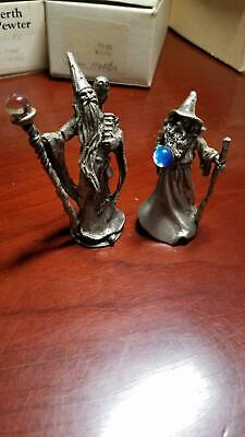 Perth Pewter 2 pcs Wizard Figurines