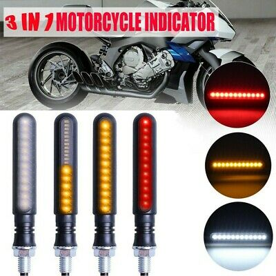 4PCS Motorcycle LED Turn Signal Lamp Sequential Flowing Indicator Motor Lights